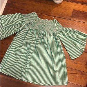 Zara pinstripe long top/dress flare.. worn